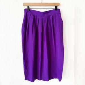 Christian Dior | Vintage Purple Silk Skirt 10